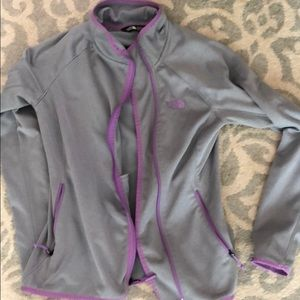 North Face zip up light weight jacket